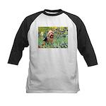 Irises - Aussie Terrier Kids Baseball Jersey