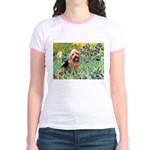 Irises - Aussie Terrier Jr. Ringer T-Shirt