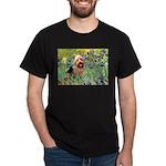 Irises - Aussie Terrier Dark T-Shirt