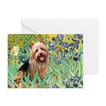 Irises - Aussie Terrier Greeting Cards (Pk of 20)