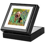 Irises - Aussie Terrier Keepsake Box