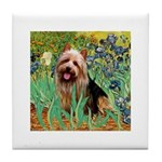 Irises - Aussie Terrier Tile Coaster