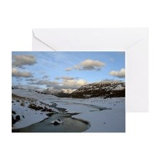 Yellowstone late in the day Greeting Card
