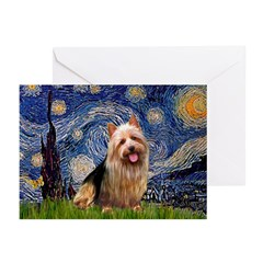 Starry-AussieTerrier Greeting Cards (Pk of 10)