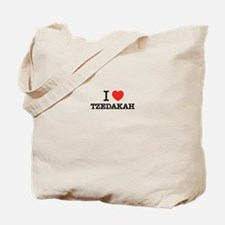 I Love TZEDAKAH Tote Bag