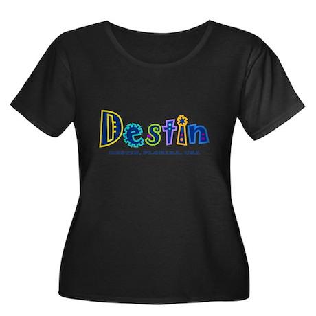 Destin Tropical Type - Women's Plus Size Scoop Ne