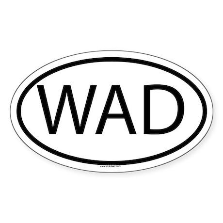 WAD Oval Sticker