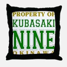 Kubasaki Nine Throw Pillow