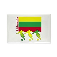 Lithuania Soccer Rectangle Magnet