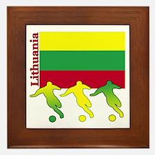 Lithuania Soccer Framed Tile