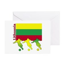 Lithuania Soccer Greeting Cards (Pk of 10)