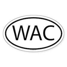WAC Oval Decal