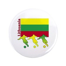 "Lithuania Soccer 3.5"" Button (100 pack)"