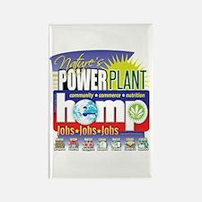 Hemp Power Plant Rectangle Magnet