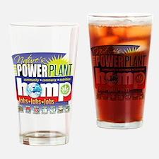 Hemp Power Plant Drinking Glass