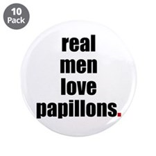 "Real Men - Papillons 3.5"" Button (10 pack)"
