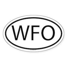 WFO Oval Bumper Stickers