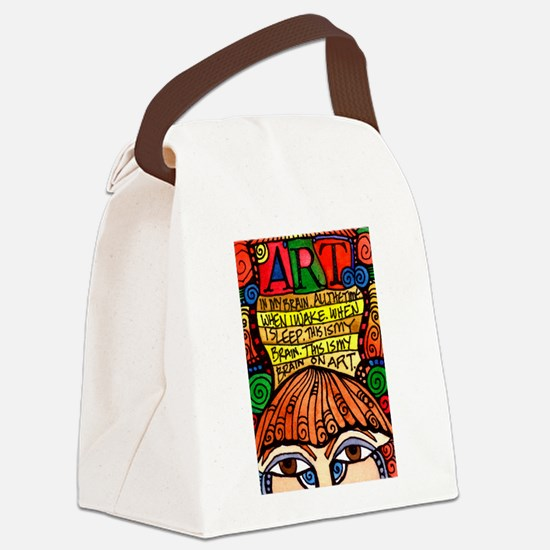 ART BRAIN (This is your brain on Canvas Lunch Bag