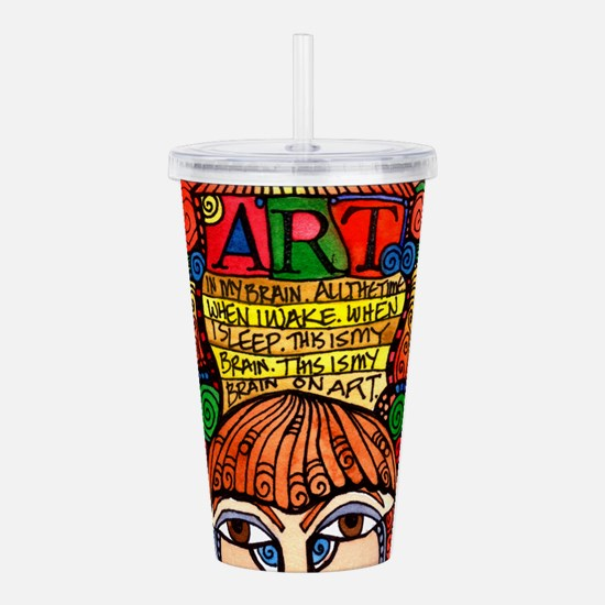 ART BRAIN (This is you Acrylic Double-wall Tumbler
