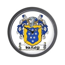 Bailey Coat of Arms Wall Clock