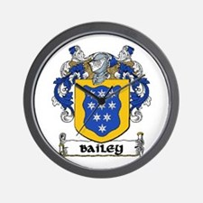 Bailey Coat of Arms Wall Clock