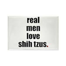 Real Men - Shih Tzus Rectangle Magnet (10 pack)