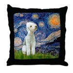 Starry / Bedlington Throw Pillow