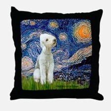 Starry / Bedlington Throw Pillow