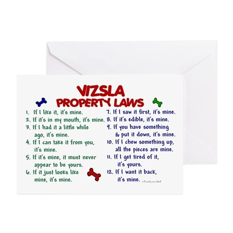 Vizsla Property Laws 2 Greeting Cards (Pk of 10)