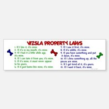 Vizsla Property Laws 2 Bumper Car Car Sticker