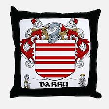 Barry Coat of Arms Throw Pillow