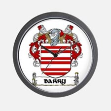 Barry Coat of Arms Wall Clock