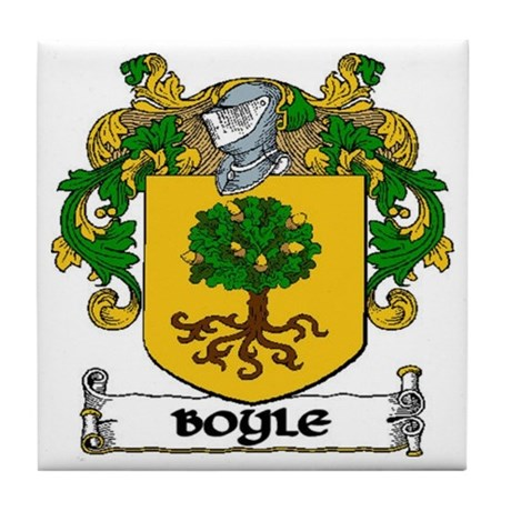 Boyle Coat of Arms Tile Coaster