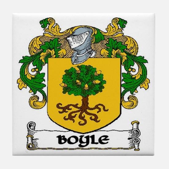 Boyle Coat of Arms Tile Coaster