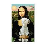 Mona / Bedlington(T) Sticker (Rectangle)