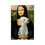 Mona / Bedlington(T) Rectangle Magnet (10 pack)