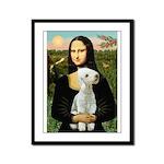 Mona / Bedlington(T) Framed Panel Print