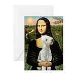 Mona / Bedlington(T) Greeting Cards (Pk of 10)