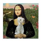 Mona / Bedlington(T) Tile Coaster