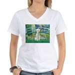 Bridge / Bedlington T Women's V-Neck T-Shirt