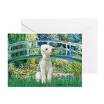 Bridge / Bedlington T Greeting Cards (Pk of 20)