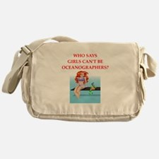 Girl scientist humor Messenger Bag