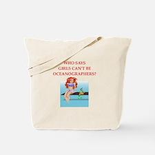 Girl scientist humor Tote Bag