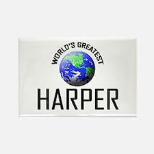 World's Greatest HARPER Rectangle Magnet
