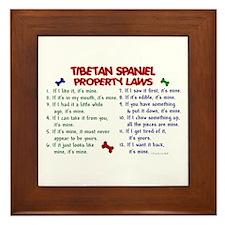 Tibetan Spaniel Property Laws 2 Framed Tile