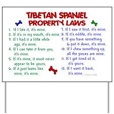 Tibetan Spaniel Property Laws 2 Yard Sign