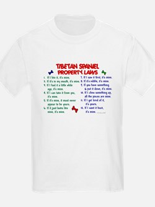 Tibetan Spaniel Property Laws 2 T-Shirt