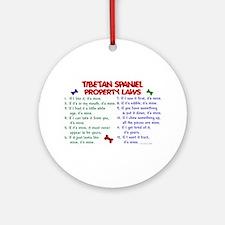 Tibetan Spaniel Property Laws 2 Ornament (Round)