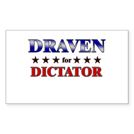 DRAVEN for dictator Rectangle Sticker