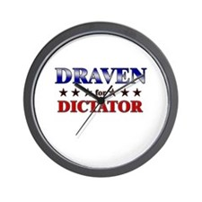 DRAVEN for dictator Wall Clock